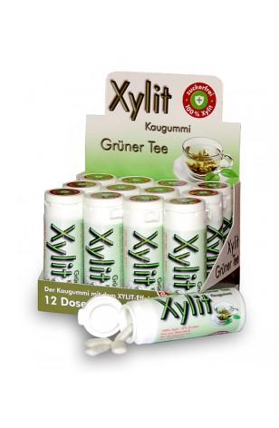 Xylit Kaugummi mit Birkenzucker GRÜNER TEE bestellen