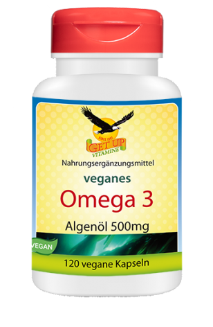 Omega-3-Algenöl vegan von GetUP 500mg bestellen