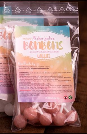 Birkenzucker Lollis Lutscher Erdbeer bestellen