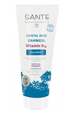 Xylit SANTE dental med Zahngel Vitamin B12 - ohne Natriumfluorid