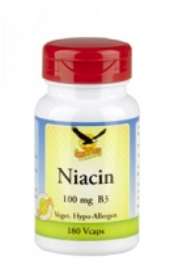 Vitamin B3 Niacin 100mg, 180 Kaps