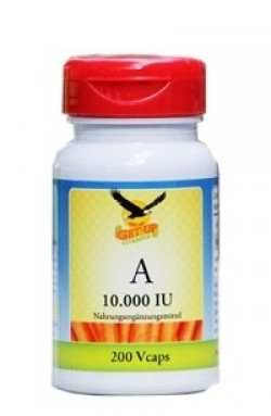 Vitamin A 10.000 IE (Retinol), 200 veg. Kaps