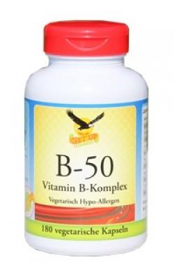Vitamin B-50 50mg Komplex, 180 Kapseln