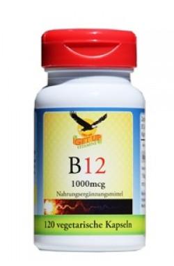 Vitamin B12 (Methylcobalamin) 1.000mcg, 120 veg. Kaps