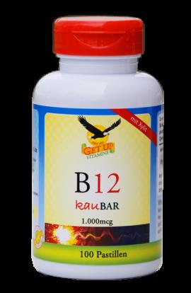 B12 (Cobalamin) 1.000mcg Kautabletten sublingual von Getup hier bestellen