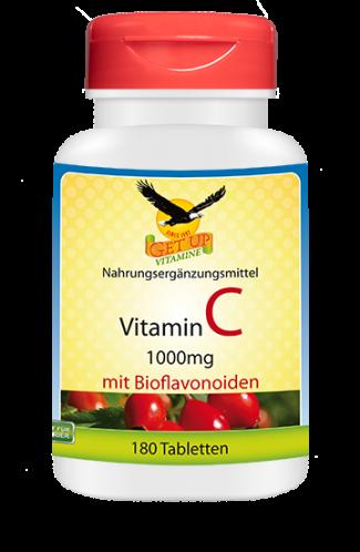 Vitamin C 1000mg natürlich, 180 Tabletten