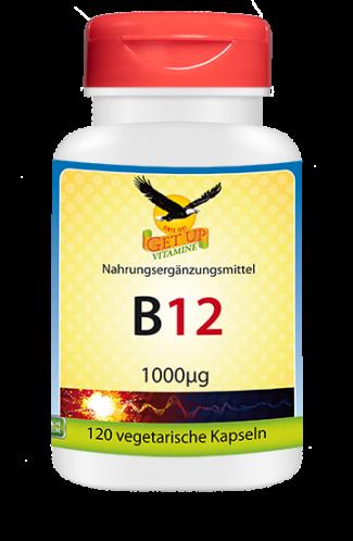 Vitamin B12 (Methylcobalamin) 1.000μg, 120 veg. Kaps