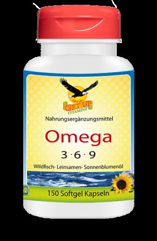 Omega 3-6-9 - Fettsäuren, 150 Kaps
