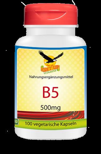Vitamin B5 500mg, 100 Kaps (Pantothensäure)