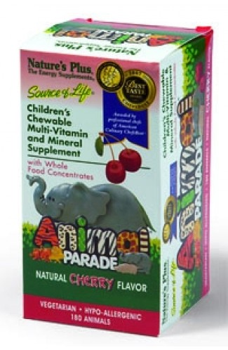 Kindervitamine & Mineralien Animal Parade KIRSCH, 180 Tabs