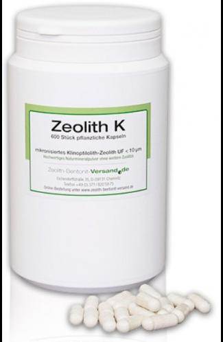Zeolith Kapseln natürlich, 600 Stk für 100 Tage