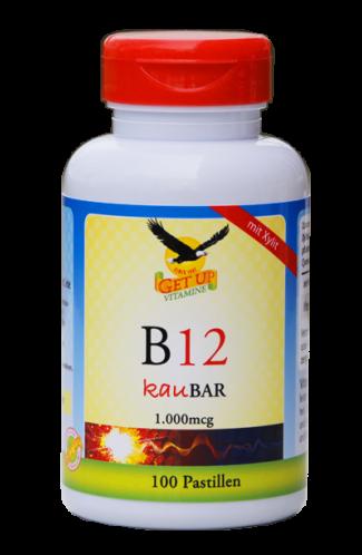 Vitamin B12 (Methylcobalamin) 1.000mcg mit Xylit KauBar, 100 Stk