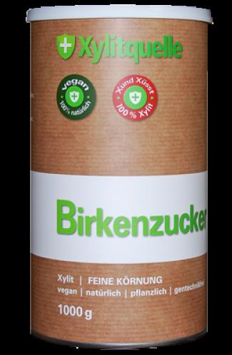 Xylit Birkenzucker aus Finnland 1kg Dose, naturrein & gentechfrei