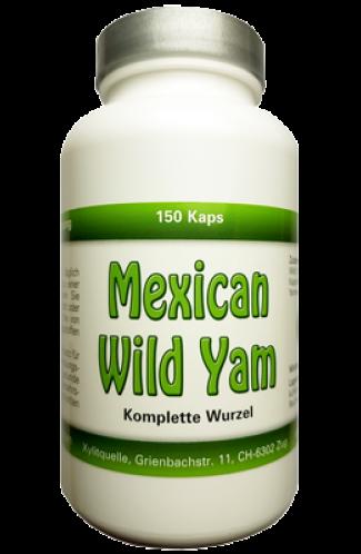 Mexican Wild Yam Kapseln, ganze Wurzel, feinst vermahlen