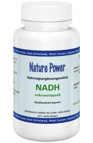 NADH (Coenzym 1) Nikotinamid-Adenin-Dinucleotid-Hydrid, 60 VEGGY-Kaps zu 10mg