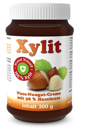 Xylit Nuss-Nougat-Creme mit 38 % Haselnuss
