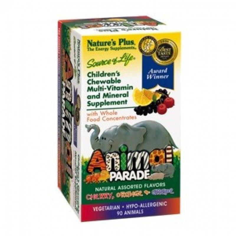 Kindervitamine & Mineralien Animal Parade FRUCHT-MIX, 180 Tabs