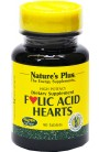 Folsäure Folic Acid Hearts von Natures Plus, Vitamin-B-Komplex, 90 Tabl.