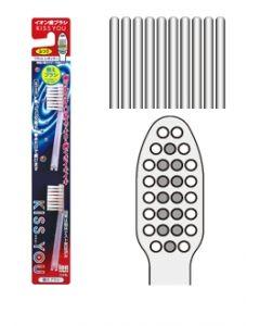 Ersatzbürsten zur Ionen Zahnbürste mit flachem Bürstenkopf